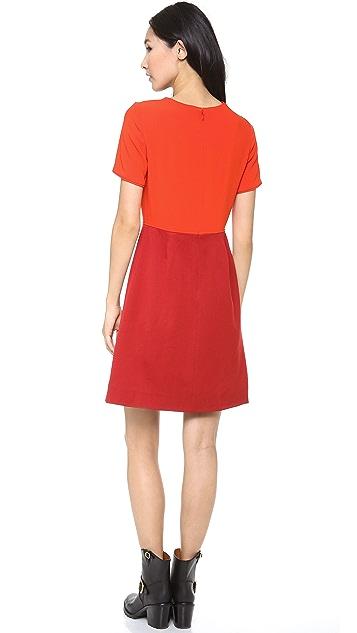 Marc by Marc Jacobs Spongy Wool Twill Dress