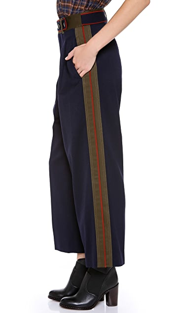 Marc by Marc Jacobs Spongy Wool Twill Wide Leg Pants