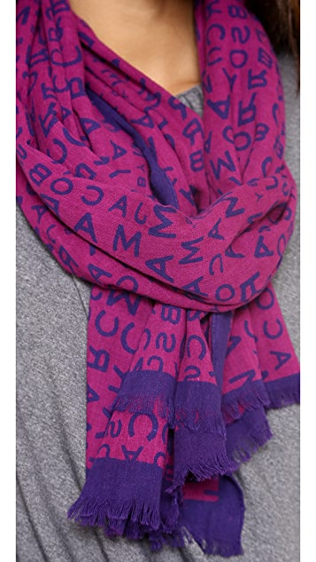 Marc by Marc Jacobs Jumble Logo Scarf