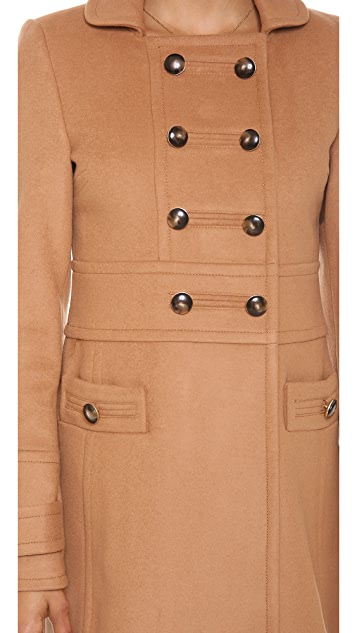 Marc by Marc Jacobs Nicoletta Wool Military Coat