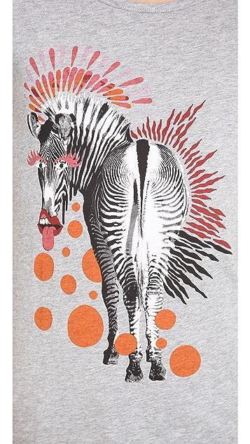 Marc by Marc Jacobs Zebra Printed Tee