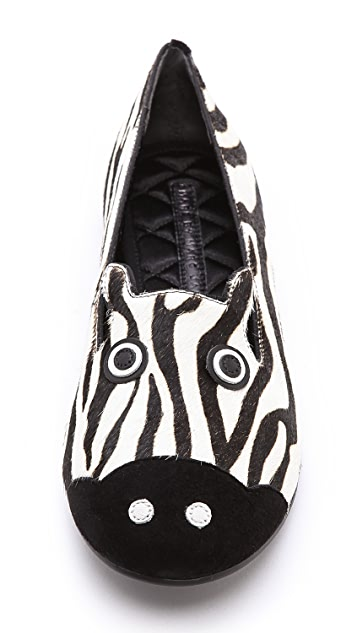 Marc by Marc Jacobs Zebra Haircalf Flats