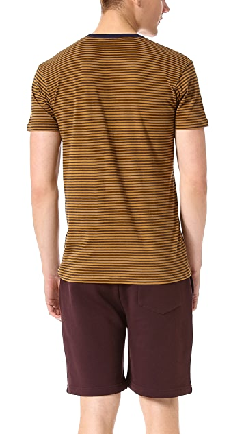 Marc by Marc Jacobs Liverpool Stripe Pocket Crew Tee