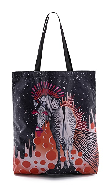 Marc by Marc Jacobs Zebra Animal Graphic Tote