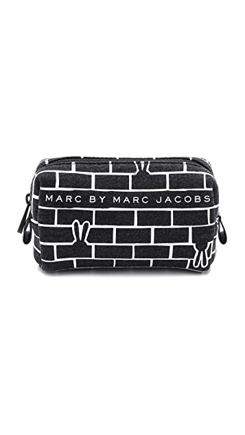 Marc by Marc Jacobs No 1 Neoprene Brick Bunnies Cosmetic Case