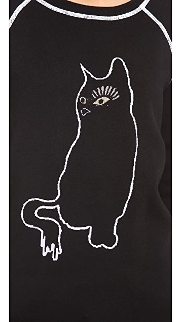 Marc by Marc Jacobs Rue Cat Intarsia Sweatshirt