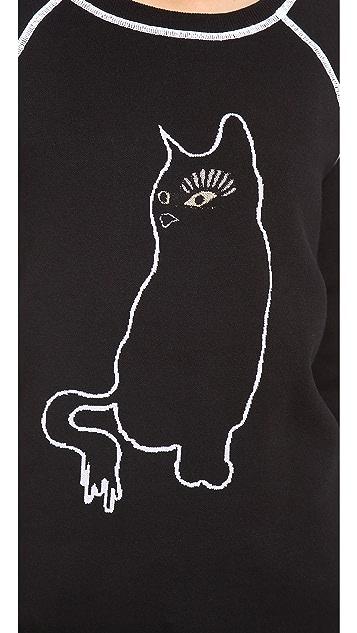 Marc by Marc Jacobs Rue Cat Intarsia Sweatshirt