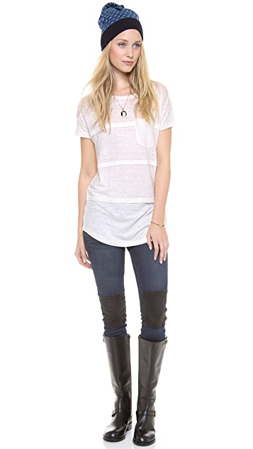 Marc by Marc Jacobs Carmen Jersey Top with Front Pocket