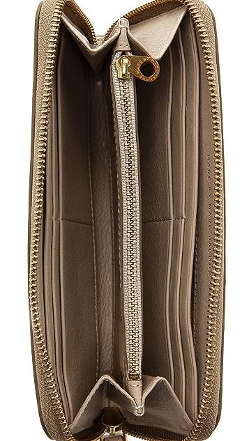 Marc by Marc Jacobs Globetrotter Slim Zip Around Wallet