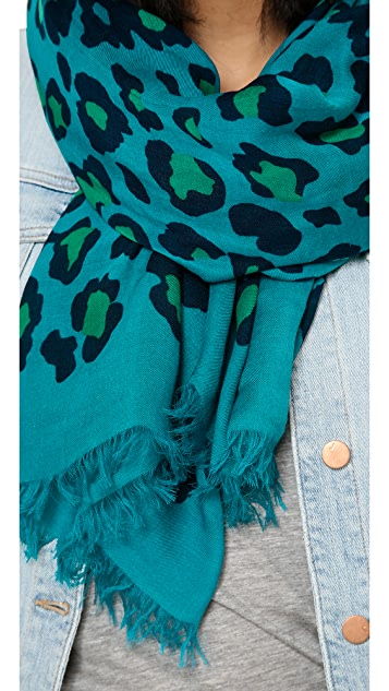 Marc by Marc Jacobs Sasha Leopard Print Scarf