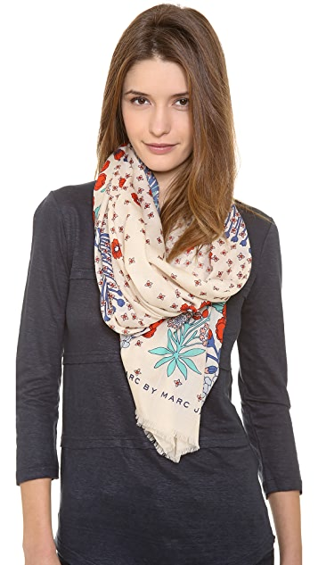 Marc by Marc Jacobs Madeline Botanical Print Scarf