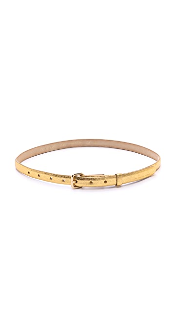 Marc by Marc Jacobs Metallic Classic Belt