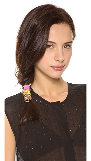 Marc by Marc Jacobs Embellished Katie Pony Ties