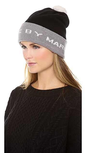 cddfffd2ce6 ... Marc by Marc Jacobs Logo Ski Hat