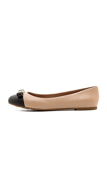 Marc by Marc Jacobs Tuxedo Logo Plaque Flats
