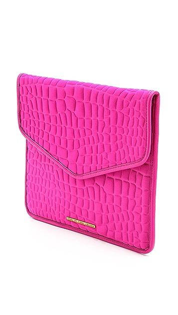 Marc by Marc Jacobs Neoprene Croc Embossed Tablet Envelope Clutch