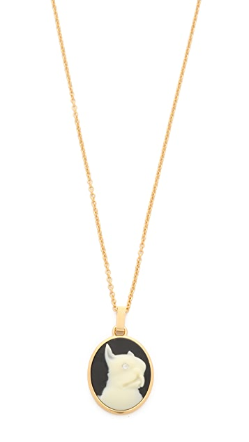 Marc by Marc Jacobs Olive Cameo Pendant Necklace