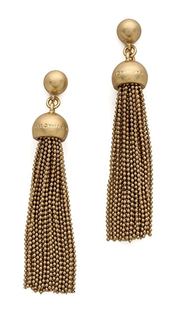 Marc by Marc Jacobs Big Tassel Drop Earrings