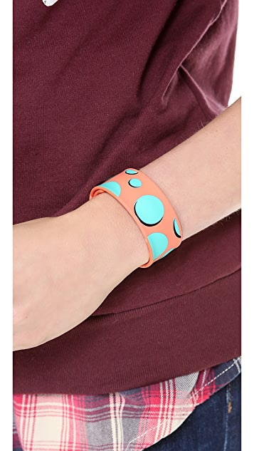 Marc by Marc Jacobs Polka Dot Slap Bracelet