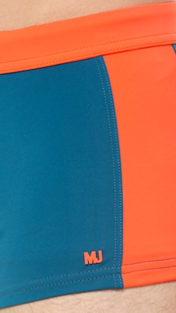 Marc by Marc Jacobs Colorblock Swim Trunks