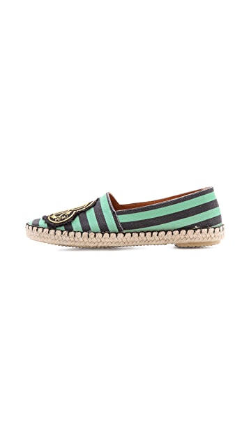 Marc by Marc Jacobs House of Cards Striped Espadrilles