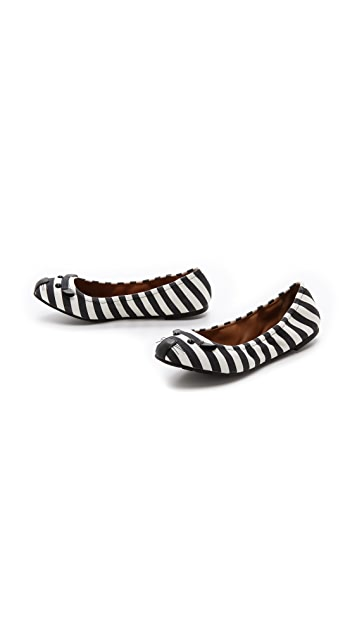 Marc by Marc Jacobs Mouse Jail Stripe Elastic Flats