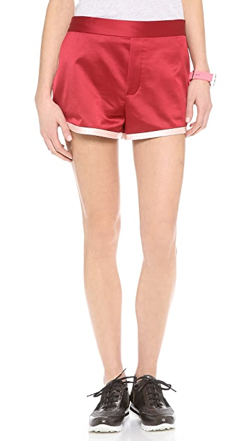 Marc by Marc Jacobs Washed Satin Shorts