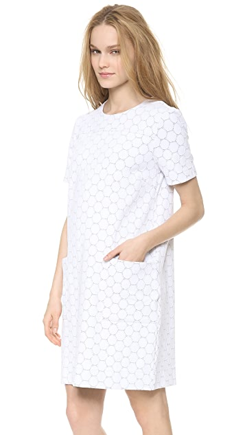 Marc by Marc Jacobs Leyna Dotty Ponte Short Sleeve Dress