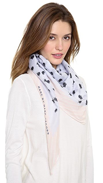 Marc by Marc Jacobs Animal Diamond Scarf