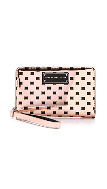 Marc by Marc Jacobs Techno Block Print Mildred Wallet