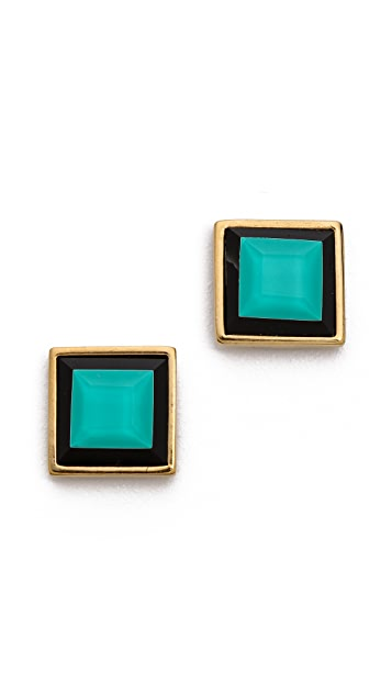 Marc by Marc Jacobs Stacking The Deck Small Stud Earrings