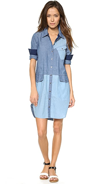 Marc by Marc Jacobs Catalina Chambray Solid Shirtdress