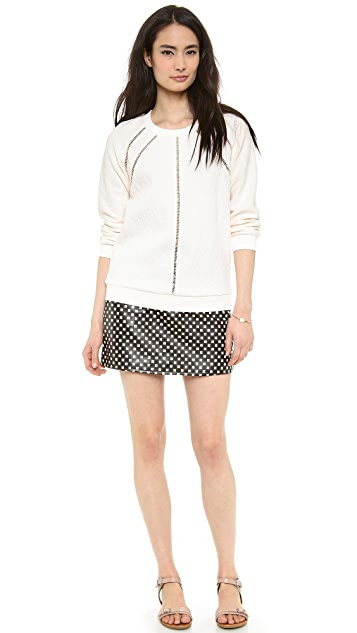 Marc by Marc Jacobs Block Leather Skirt