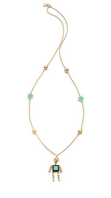 Marc by Marc Jacobs Block Figure Long Pendant Necklace