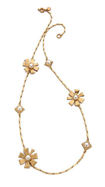 Marc by Marc Jacobs Long Flower Diamond Necklace