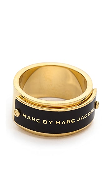 Marc by Marc Jacobs Enamel Plaque Ring