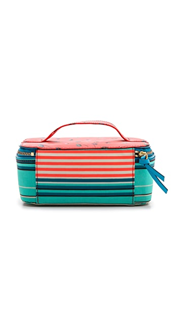 Marc by Marc Jacobs Coated Canvas Stripe Cosmetic Bag