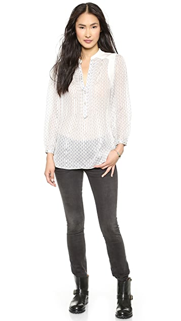 Marc by Marc Jacobs Damara Print Crinkle Blouse
