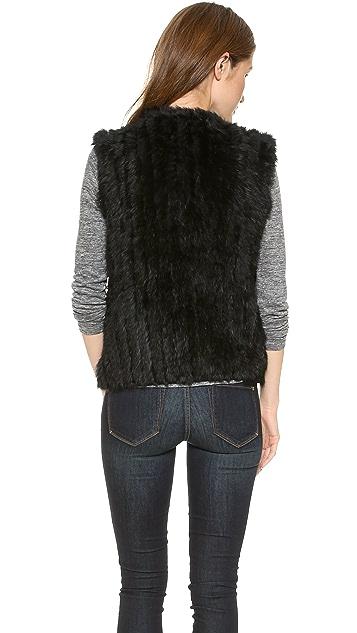 Marc by Marc Jacobs Abbey Rabbit Fur Vest