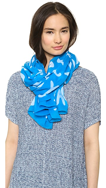 Marc by Marc Jacobs Adults Suck Logo Scarf