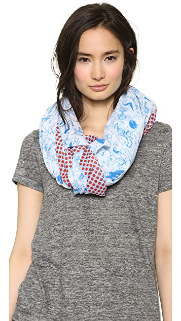 Marc by Marc Jacobs Doodle Print Scarf