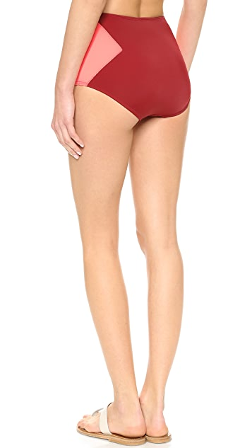 Marc by Marc Jacobs Kite Applique High Waisted Bikini Bottoms