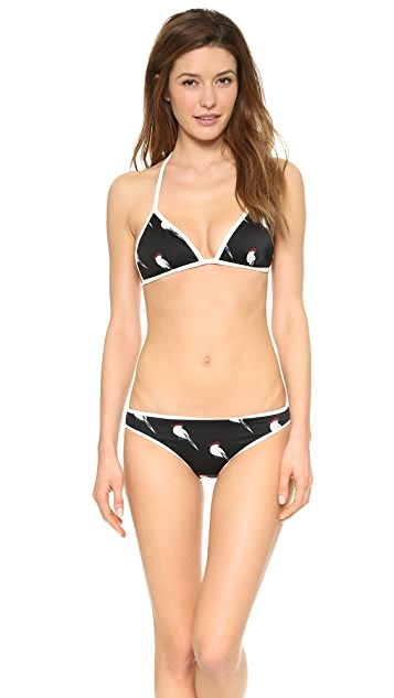 Marc by Marc Jacobs Capella Print Triangle Bikini Top