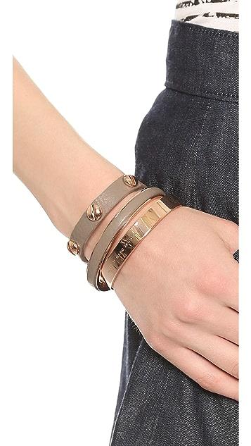 Marc by Marc Jacobs Screw Leather Cuff Bracelet