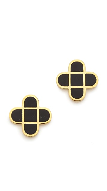 Marc by Marc Jacobs Modern Intersection Stud Earrings