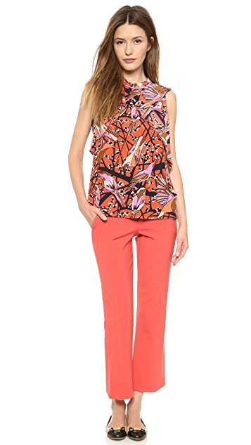 Marc by Marc Jacobs Nightingale Print Ruffle Blouse
