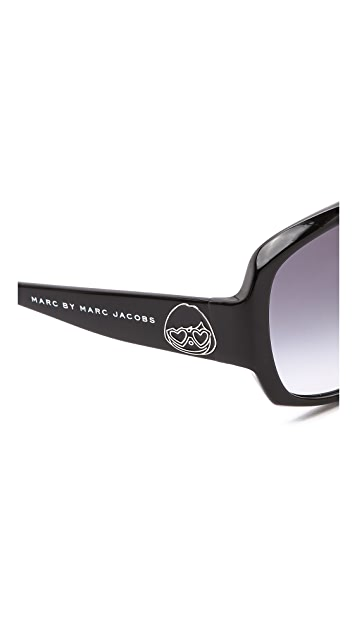 Marc by Marc Jacobs Special Fit Square Sunglasses