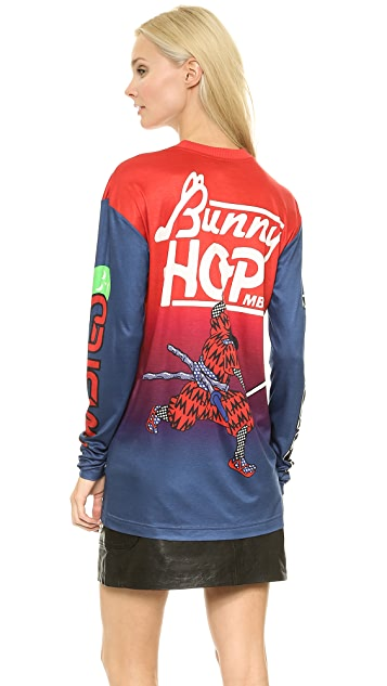 Marc by Marc Jacobs Rally Motocross Long Sleeve Layering Tee