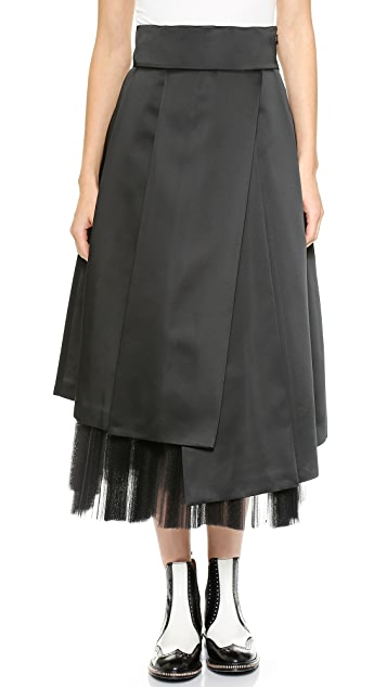 Marc by Marc Jacobs Heavy Satin Peticoat Skirt