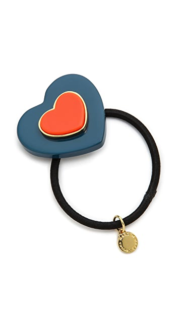 Marc by Marc Jacobs Two of Hearts Pony Hair Tie